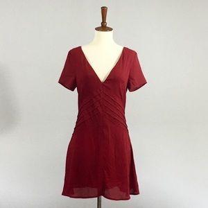 Tobi Red Skater Dress